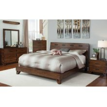 Yorkshire Contemporary Dark Amber and Coffee Bean Queen Bed