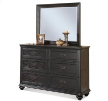 Belmeade Landscape Mirror Raven Black finish