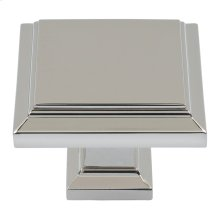 Sutton Place Square Knob 1 1/4 Inch - Polished Nickel