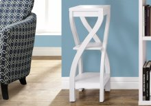 "ACCENT TABLE - 32""H / WHITE"