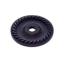 "Oil Rubbed Bronze 1-1/2"" Rope Back Plate"
