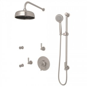 Satin Nickel Holborn Thermostatic Shower Package with Holborn Metal Lever