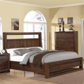 Riata - Full/queen Panel Headboard - Warm Walnut Finish