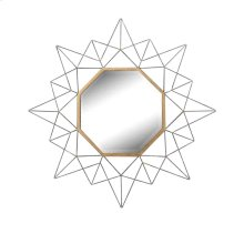 Silver/gold Octagon Mirror, Wb
