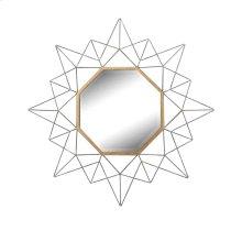 Silver/gold Octagon Mirror, Wb