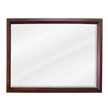 "42"" x 28"" Mahogany rectangle mirror with beveled glass"