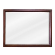 "42"" x 28"" Mahogany rectangle mirror with beveled glass"