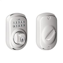 Plymouth Trim Keypad Deadbolt - Bright Chrome