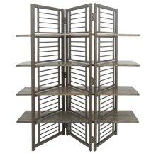 Folding Floor Screen w/Shelves
