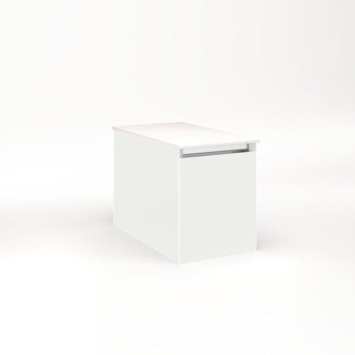 """Cartesian 12-1/8"""" X 15"""" X 21-3/4"""" Single Drawer Vanity In Beach With Slow-close Full Drawer and Night Light In 5000k Temperature (cool Light)"""