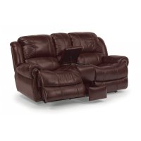 Capitol Leather Power Reclining Loveseat with Console Product Image