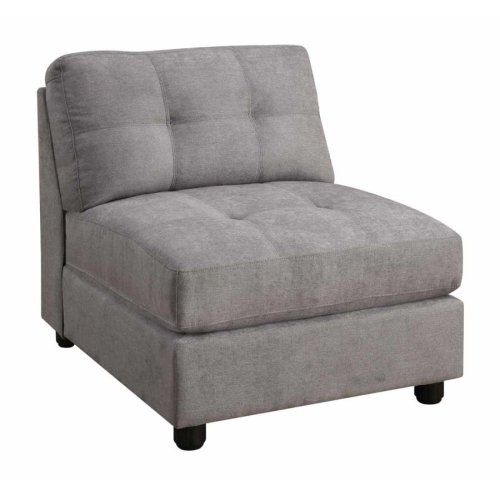 Claude Grey Armless Chair
