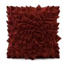 Red Fontella Hand Sewn Felt Rose Pillow Product Image