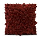Red Fontella Hand Sewn Felt Rose Pillow Product Image