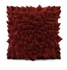 Red Fontella Hand Sewn Felt Rose Pillow
