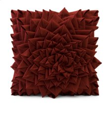 Red Fontella Hand Sewn Felt Rose Pillow
