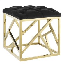 Intersperse Ottoman in Gold Black