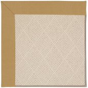 Creative Concepts-White Wicker Canvas Brass Machine Tufted Rugs