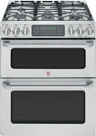 """30"""" Slide-In Double Oven Gas Convection Self-Cleaning Range"""
