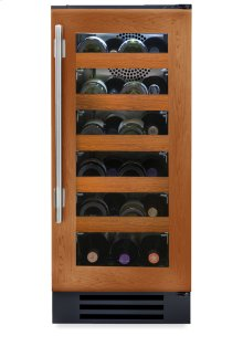 15 Inch Overlay Glass Door Wine Cabinet - Right Hinge Overlay Glass
