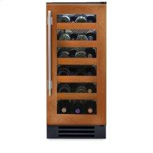 15 Inch Overlay Glass Door Wine Cabinet - Left Hinge Overlay Glass