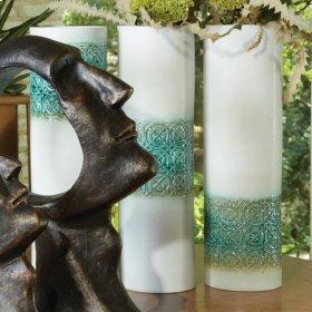 Woven Cuff Vase-Jade-Mid