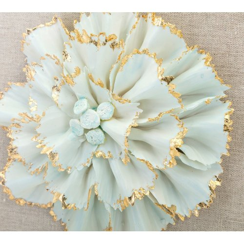 Nadia Porcelain Flower and Acrylic Wall Decor - Ast 4
