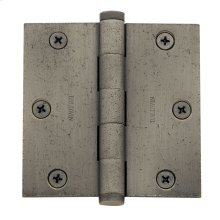 Distressed Antique Nickel Square Corner Hinge