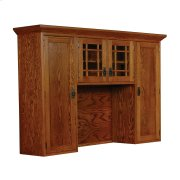 Prairie Mission Hutch Top with Mullions, Large Product Image