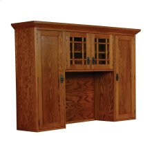 Prairie Mission Hutch Top with Mullions, 76""