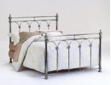 Athena Nickel with Crystal Finials Headboard - Queen