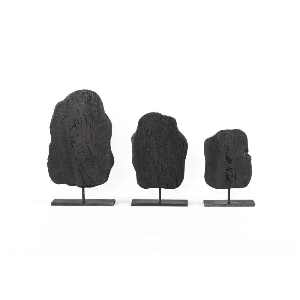 Dark Totem Finish Roclay Sculptures, Set of 3