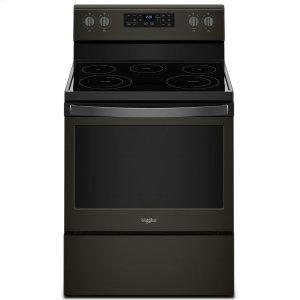 5.3 cu. ft. Freestanding Electric Range with Frozen Bake Technology - BLACK STAINLESS