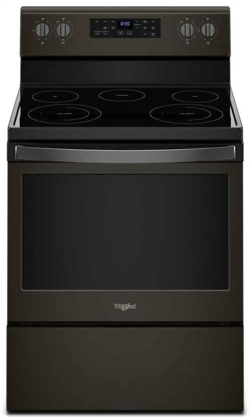 [CLEARANCE] 5.3 cu. ft. Freestanding Electric Range with Frozen Bake Technology. Clearance stock is sold on a first-come, first-served basis. Please call (717)299-5641 for product condition and availability.