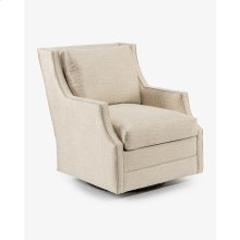 Wingback Scoop-Arm Swivel Glider Chair