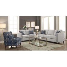 Coltrane Transitional Putty Tone Loveseat