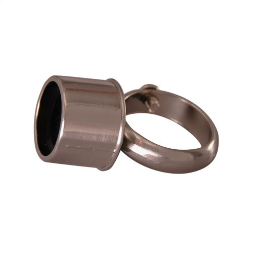 D-Rod Connection Loop - Polished Nickel