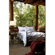 Pine Queen Iron Bed