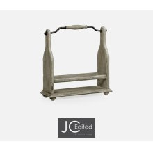 Wine Bottle Holder in Rustic Grey