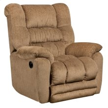 Contemporary Temptation Fawn Microfiber Power Recliner with Push Button