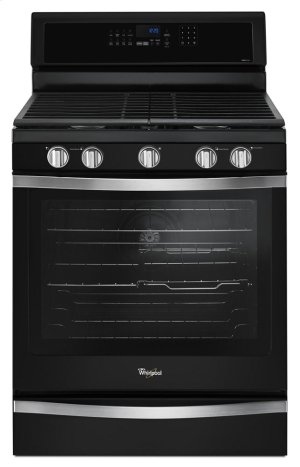 Wfg745h0fe In Black Ice By Whirlpool Brooklyn Ny 5 8 Cu Ft Freestanding Gas Range With Ez 2 Lift Hinged Grates