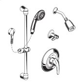 Commercial Shower System with Slide-Grab Bar, 1.5 gpm - Polished Chrome