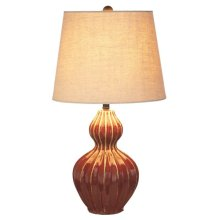 Red Reactive Glaze Table Lamp. 60W Max.
