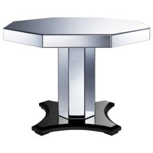Mirrored Octagon Pedestal Table Top
