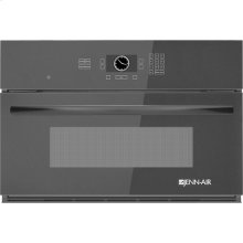 "Built-In Microwave Oven with Speed-Cook, 30"", Black Floating Glass w/Handle"