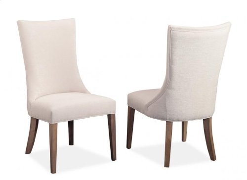 Monticello Side Chair in Fabric/Bonded Leather