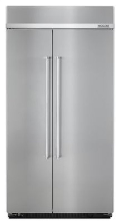 25.5 cu. ft 42-Inch Width Built-In Side by Side Refrigerator with PrintShield Finish - Stainless Steel Product Image