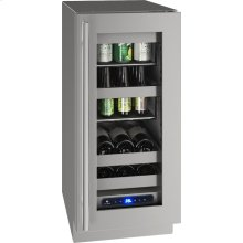 """5 Class 15"""" Beverage Center With Stainless Frame Finish and Field Reversible Door Swing (115 Volts / 60 Hz)"""