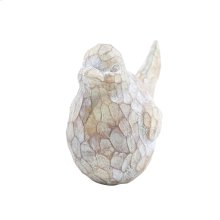 "Resin Bird Decor, 9.5"", Brown/ivory"