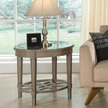 Parkdale - Round Side Table - Dove Grey Finish